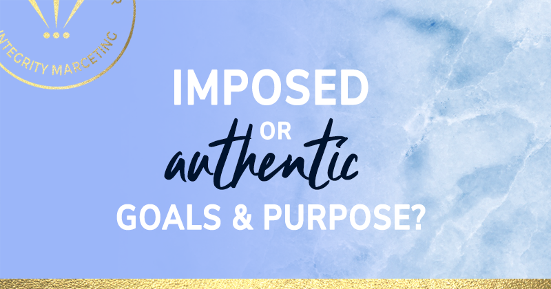 Purpose driven life - imposed or authentic